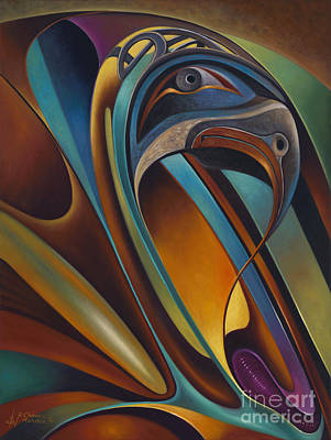 Totems Painting - Dynamic Series #17 by Ricardo Chavez-Mendez