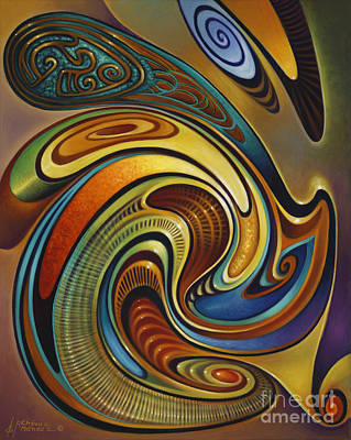 Multi Colored Painting - Dynamic Series #19 by Ricardo Chavez-Mendez