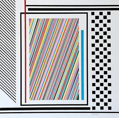 Painting - Dynamic Stripes by Thomas Gronowski