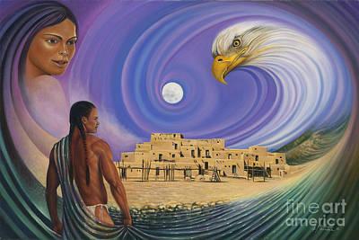 Pueblo Painting - Dynamic Taos I by Ricardo Chavez-Mendez