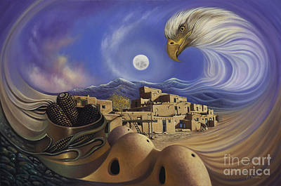 Indian Corn Wall Art - Painting - Dynamic Taos Ill by Ricardo Chavez-Mendez