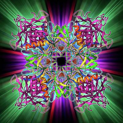 Molecular Structure Photograph - Dynamin Enzyme by Laguna Design