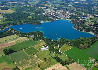 Photograph - E-029 Elkhart Lake Sheboygan Co. Wisconsin Lake To East by Bill Lang