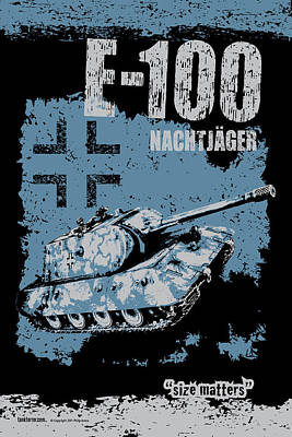 E-100 Nachtjager Art Print by Philip Arena