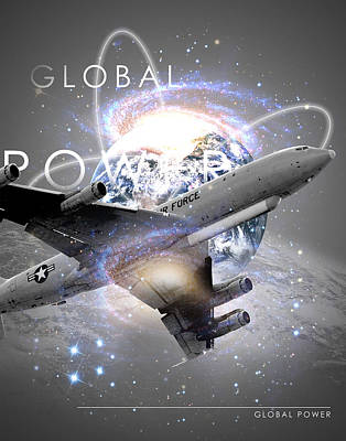 Jet Star Digital Art - E-8 Joint Stars --- Global Power by Reggie Saunders