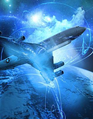 Jet Star Digital Art - E-8 Joint Stars---blue Space by Reggie Saunders