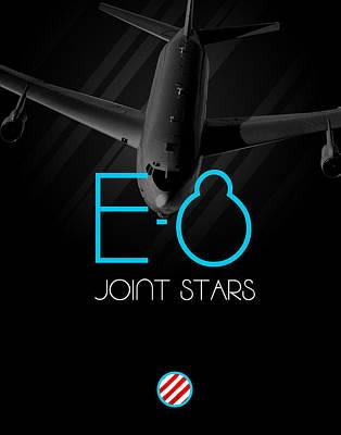 Jet Star Digital Art - E-8 Joint Stars Blackout by Reggie Saunders