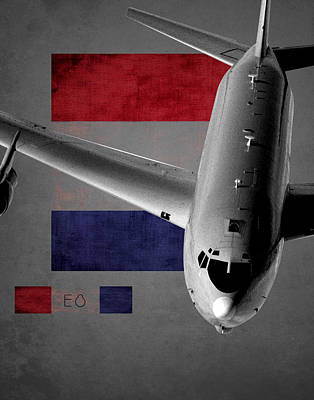 Jet Star Digital Art - E-8 Joint Stars Flag Spirit by Reggie Saunders