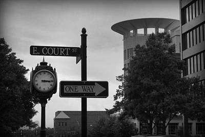 Clock Photograph - E. Court St.  by Kelly Hazel