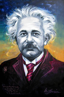Painting - E Equals Einstein by Mary Lovein