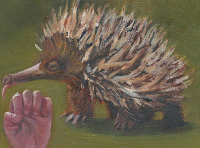 Painting - E Is For Echidna by Jessmyne Stephenson