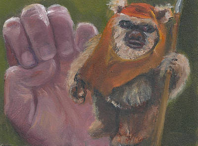 Painting - E Is For Ewok by Jessmyne Stephenson