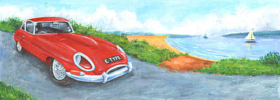 E-type Print by Peter Adderley