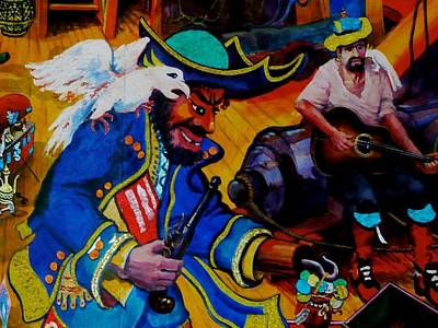 Painting - E03. Pirates by Les Melton