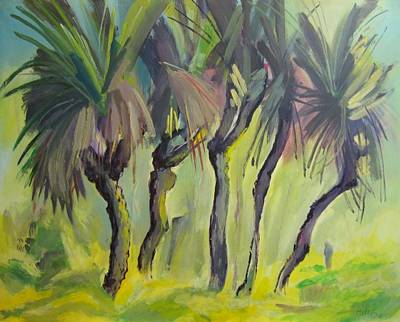 Painting - E07. Black Boy Trees  Au by Les Melton