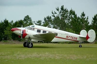 Beechcraft Bonanza Photograph - E18s Twin Beech by Matt Abrams