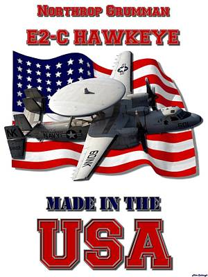 Made In The Usa Digital Art - E2-c Hawkeye Made In The Usa by Mil Merchant