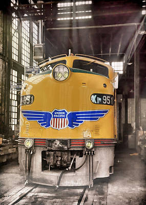 Photograph - E9 951 In The Roundhouse In Cheyenne by Ken Smith