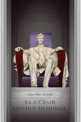 Ea-z-chair Lincoln Memorial 2 Art Print by Mike McGlothlen