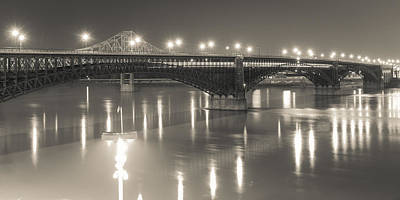 Photograph - Eads Bridge And Train by Scott Rackers