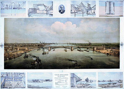 Eads Bridge Drawings Art Print