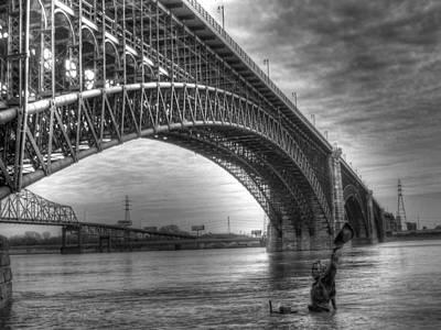 Eads Bridge Art Print by Jane Linders