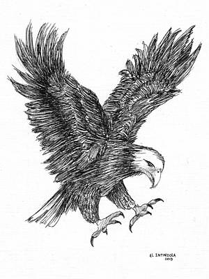Drawing - Eagle 1 by Al Intindola