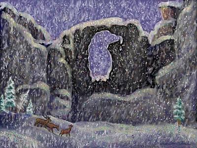 Digital Art - Eagle Arch Of Wyoming by Dawn Senior-Trask