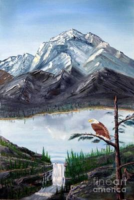 Painting - Eagle At Denali by Stephen Schaps