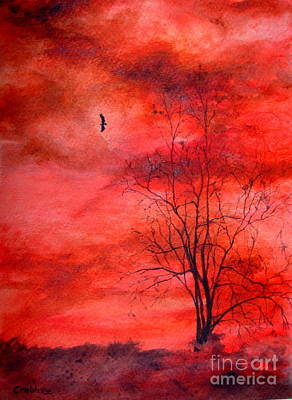 Painting - Eagle At Dusk by Elizabeth Crabtree