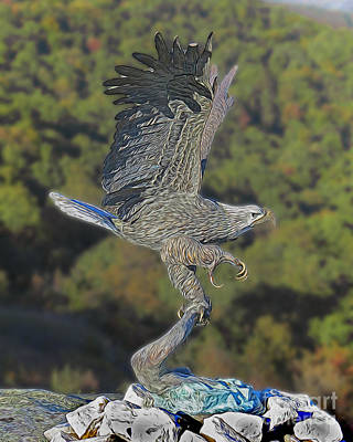 Photograph - Eagle At Rock City by Dawn Gari