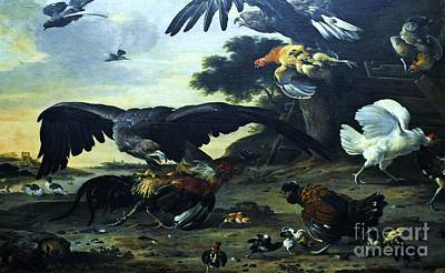 Fauna Painting - Eagle Attacking by Pg Reproductions