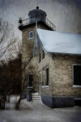Lighthouse Photograph - Eagle Bluff Light by Joan Carroll