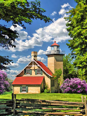 Eagle Bluff Lighthouse Print by Christopher Arndt