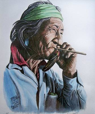 Eagle Bone Whistle Painting - Eagle Bone Whistle by Robert Pace Kidd