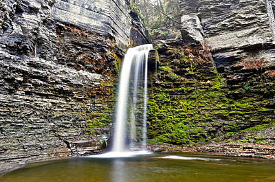 Eagle Cliff Falls Art Print by Frozen in Time Fine Art Photography