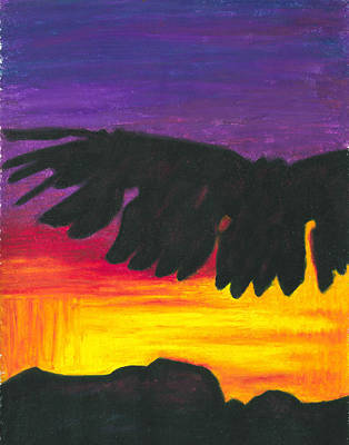 Painting - Eagle Dance by Carrie MaKenna