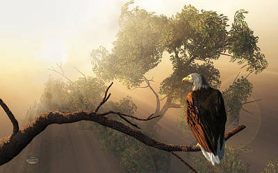 American Eagle Digital Art - Eagle Dawn by Daniel Eskridge