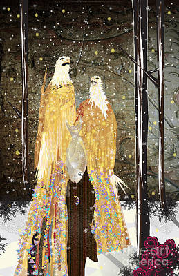 Winter Dress Art Print