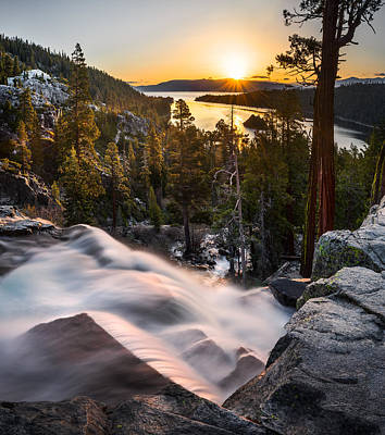 Photograph - Eagle Falls California by Leland D Howard