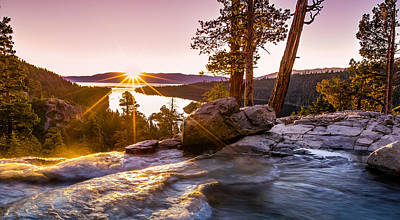 Emerald Bay Photograph - Eagle Falls Emerald Bay Lake Tahoe Sunrise by Scott McGuire