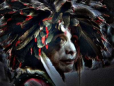 Eagle Feather Art Print by Irma BACKELANT GALLERIES