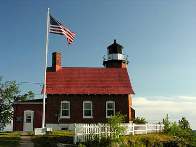 Photograph - Eagle Harbor Lighthouse by Robert Lozen