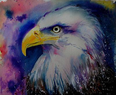 Raptor Drawing - Eagle by Isabel Salvador