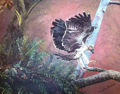 Claw Painting - Eagle Light by Mary Ellen Anderson