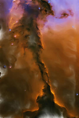 Painting - Eagle Nebula by Inspirowl Design