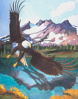 Painting - Eagle Oregon Lake by Susan McNally