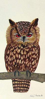 Painting - Eagle Owl by Nicole I Hamilton
