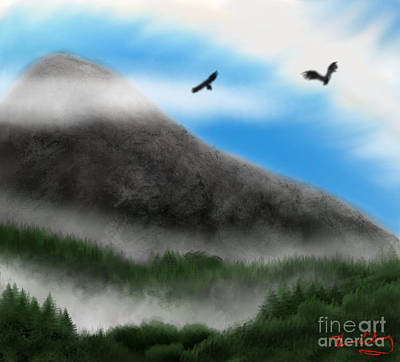 Digital Art - Eagle Peak by Thomas OGrady