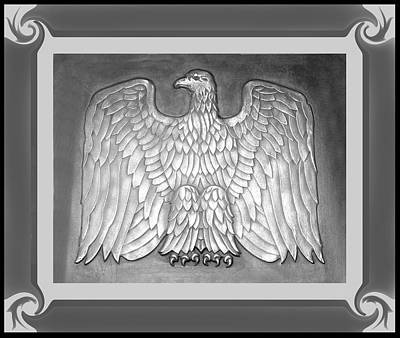 Photograph - Eagle Plaque From Va Hospital by rd Erickson